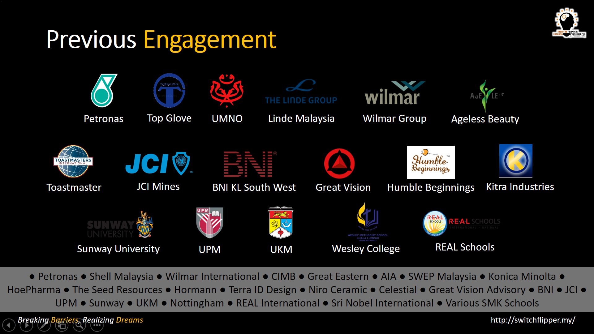CORPORATE ENGAGEMENTS